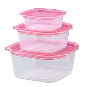 Bộ 3 hộp nhựa đựng đồ ăn dặm cho bé 90ml nội địa Nhật Bản