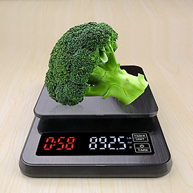 Cân nhà bếp, cân cafe 3kg/0.1g (Đen) cao cấp