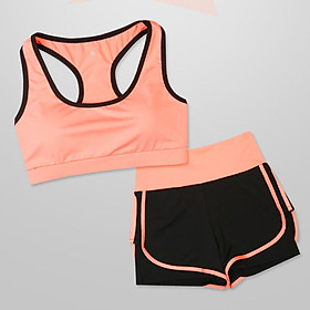 Bộ đồ tập Gym nữ - Set quần đùi và áo Bra thể thao
