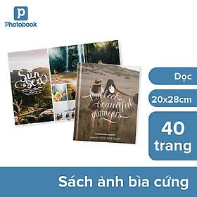 """[E-voucher] In album ảnh theo yêu cầu bìa cứng 40 trang 8"""" x 11"""" khổ dọc (20x 28cm) - Web Photobook"""