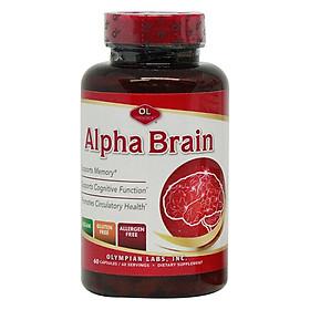 Thực phẩm chức năng: Hỗ trợ tuần hoàn não, cải thiện trí nhớ hiệu quả - Alpha Brain 60 viên