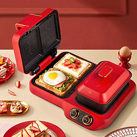 Xiaomi  Youpin silencare Chức Năng Ăn Sáng Máy Làm Bánh Sandwich 4 Trong 1 Nhà Bánh Magic Máy Lười Đôi Tấm máy