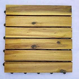 Thùng ván gỗ lót sàn 6 nan - vàng chanh (10 vỉ)