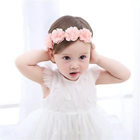 Băng đô vải hoa hồng cho bé gái