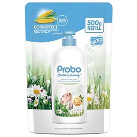 Nước rửa bình sữa và rau quả kháng khuẩn dạng túi PROBO - 500g