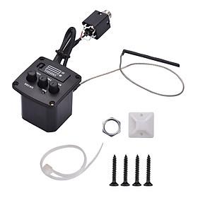 Muslady Ukulele Peizo Pickup Preamp Amplifier 3-Band EQ Equalizer Tuner System