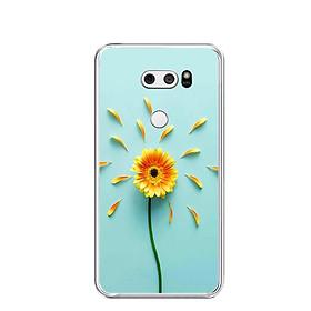 Ốp lưng dẻo cho điện thoại LG V30 - 0468 SUNFLOWER02 - Hàng Chính Hãng