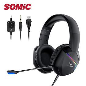 Tai nghe Gaming Somic GS401 - Không dây, Led RGB, Nhiều chế độ âm thanh - Hàng chính hãng