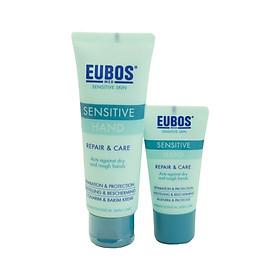 Combo 2 Kem dưỡng tay cho da nhạy cảm EUBOS Sensitive Hand Repair & Care (75ml & 25ml)