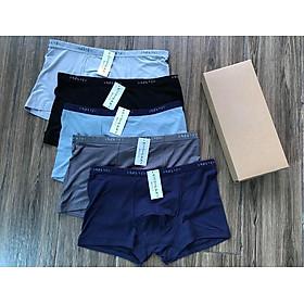 Hôp 5 quần lót nam boxer thun lạnh cao cấp chuẩn xuất Nhật