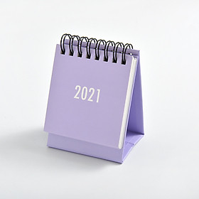 Lịch Để Bàn Mini 2021 Màu Pastel Size 7x10cm Dùng Decor Bàn Làm Việc
