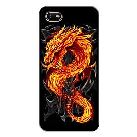 Ốp lưng cứng cho điện thoại Oppo A1K - Viền dẻo - 0218 FIREDRAGON - In hình Rồng Lửa - Hàng Chính Hãng