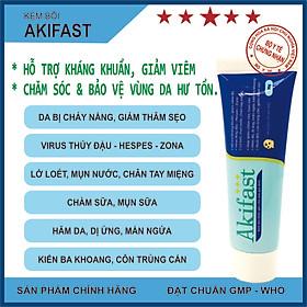 Kem bôi hỗ trợ trị mụn Akifast – Hỗ trợ kháng khuẩn, giảm viêm da, chăm sóc và bảo vệ vùng da hư tổn