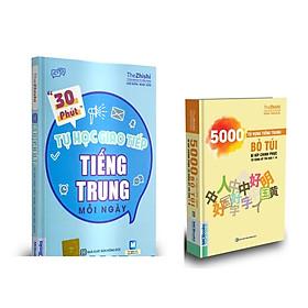 combo sách tiếng trung bỏ túi kt ( 5000 từ vựng tiếng Trung Bỏ Túi – Bí Kíp Chinh Phục Từ Vựng Kỳ Thi HSK 1 – 6 kt và  30 phút tự học giao tiếp tiếng Trung mỗi ngày)
