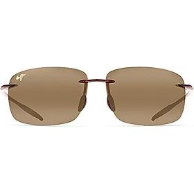 Maui Jim Sunglasses   Breakwall 422   Rimless Frame, Polarized Lenses, with Patented PolarizedPlus2 Lens Technology
