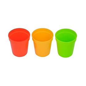 Set 3 cốc nhựa Inomata màu sắc có hộp cất gọn nội địa Nhật Bản