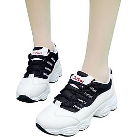 Giày sneaker thể thao nữ buộc dây phong cách hàn quốc HOT TREND chữ SPORT