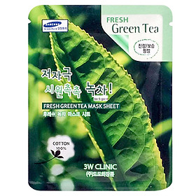 Mặt nạ dưỡng da 3W Clinic Fresh Green Tea Mask Sheet 23ml