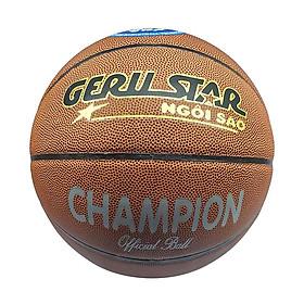 Bóng rổ dán Gerustar Size 7 Champion (Tặng Băng dán thể thao + Kim bơm + Lưới đựng)