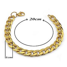 Lắc tay nam inox thời trang kiểu lặc đơn trangsucpt màu mạ vàng trangsucpt thép không gỉ PTLTNA123