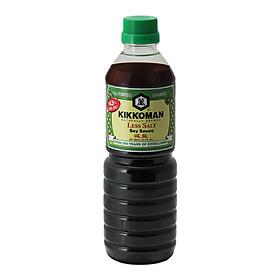 Nước tương ít muối 43 % hiệu Kikkoman - chai nhựa 600ml - Hàng Nhập Khẩu