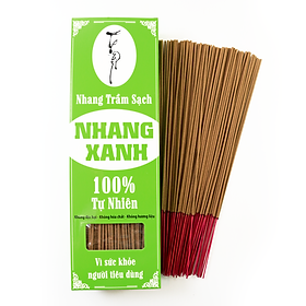 Nhang Xanh 30cm - 500g - Chân Tăm Đỏ - ít khói - mùi hương trầm dịu nhẹ - Chuyên dùng cho phòng máy lạnh - Nhang Thiền