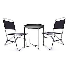 Bộ 1 bàn và 2 ghế xếp gọn