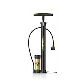 Bơm xe đạp, xe máy cầm tay có bình nén áp lực 150PSI, đồng hồ đo áp suất lốp cao cấp, chiều dài dây bơm 60cm từ cao su bền dẻo dai