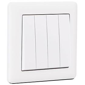 CÔNG TẮC BỐN 1 CHIỀU BR010401 - Chuẩn Anh (Bristish Standard/BS) MAKEL - Thổ Nhĩ Kỳ - Loại công tắc thông dụng, đóng ngắt mạch điện độc lập, dòng điện định mức 20A, phù hợp mọi không gian và mọi công trình