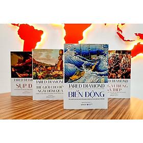 Bộ 4 cuốn sách tinh hoa của Jared Diamond: Súng, Vi trùng và Thép - Sụp đổ - Thế giới cho đến ngày hôm qua - Biến động