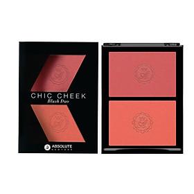 Má Hồng Absolute Newyork Chic Cheek Blush Dou MFBD04 - Pure Pink/Papaya Matte (5g)