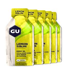 Combo 5 gói Gel năng lượng GU Energy Vị Chanh Lemon Sublime