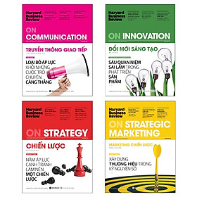 Combo Hbr On: Harvard Business Review - On Communication - Truyền Thông Giao Tiếp + Harvard Business Review - On Strategic Marketing - Marketing Chiến Lược + Harvard Business Review - On Strategy - Chiến Lược + Harvard Business Review - On Innovation - Đổ