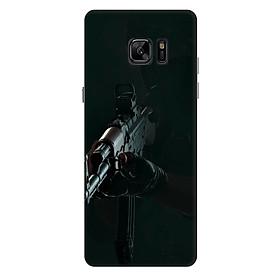 Ốp lưng nhựa cứng nhám dành cho Samsung Galaxy Note FE in hình PUPG