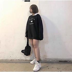 Áo thun nữ tay dài Áo hoodie nam nữ mặc / áo sweater nam nữ mặc  in chữ hàn, in cờ hàn quốc  / áo khoác