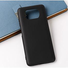 Ốp lưng silicon dẻo màu đen cho POCO X3 NFC