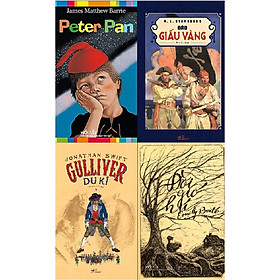 Combo 4 Cuốn Sách Kinh Điển - Peter Pan + Đảo Giấu Vàng + Gulliver Du Kí + Đồi Gió Hú