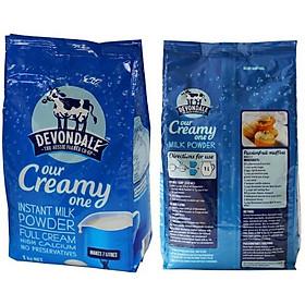 Combo 2 túi sữa bột Full cream Devondale 1kg/1 túi