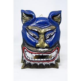 Mặt nạ trang trí bằng gỗ hình con Nghê với nhiều lựa chọn màu sắc
