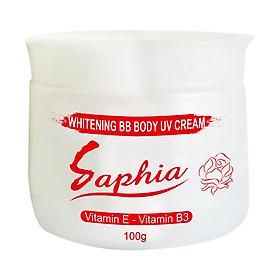 Kem dưỡng trắng và trang điểm da toàn thân 100gr - Saphia Whitening BB Body Cream