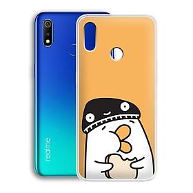 Ốp lưng dẻo cho điện thoại Realme 3 - 01215 7901 DUCK04 - Hàng Chính Hãng