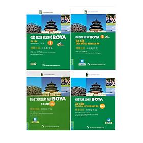 Combo Tron Bộ 4 Cuốn Giáo Trình Hán Ngữ Boya Sơ Cấp ( Tặng kèm bookmark và video học 6000 từ vựng tiếng Trung thông dụng qua hình ảnh )
