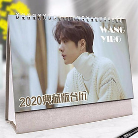 Lịch để bàn 2020 Vương Nhất Bác LAM VONG CƠ MA ĐẠO TỔ SƯ TRẦN TÌNH LỆNH tặng ảnh thiết kế vcone