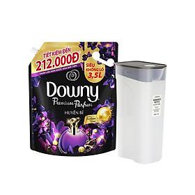 Nước Xả Vải Downy Huyền Bí 3.5L/Túi [Tặng Bình Nước Hand Bottle] - Lưu hương bền lâu - Giữ màu tươi mới - Mềm mại hơn mỗi lần giặt
