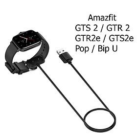 Dây Cáp Sạc Thay Thế Dành Cho Đồng Hồ Thông Minh Amazfit GTS 2 / GTR 2 / GTR 2e / GTS 2e / Pop / Bip U Dài 1m