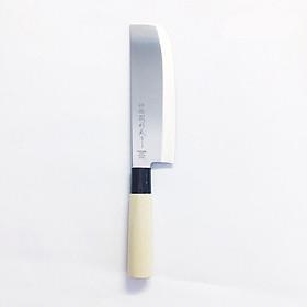Dao thái cắt rau cán gỗ của Nhật Bản lưỡi dài17.3cm thép không gỉ (Dao-3)