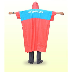 Áo mưa nhựa phối màu in chữ honda, thiết kế kiểu dáng cánh dơi - Giao Ngẫu Nhiên - Hàng Nhập Khẩu