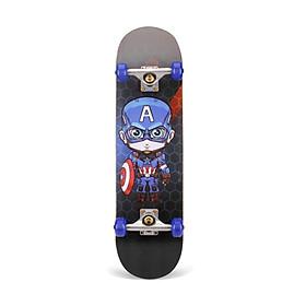 Ván trượt Skateboard Bensai 10 dành cho trẻ em và người lớn trên 6 tuổi có thể chịu được trọng lượng lên đến 75kg