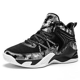 Giày Bóng rổ, bóng chuyền nam dệt thoáng khí, đế cao su non phối mầu độc đáo - đủ size từ 37-44