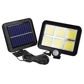 Đèn năng lượng mặt trời 120 Led COB siêu sáng cảm biến hồng ngoại, kèm 5m dây tiện dụng